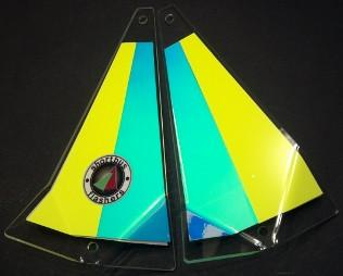"Shortbus 5.5"" Triangle Flashers Trolling Attraction Shortbus 5.5"" Lemon Drop"