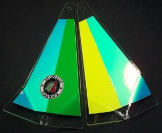 "Shortbus 5.5"" Triangle Flashers Trolling Attraction Shortbus 5.5"" Packer Backer"