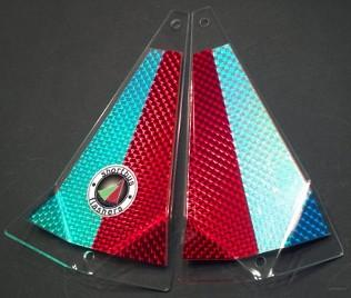"Shortbus 5.5"" Triangle Flashers Trolling Attraction Shortbus 5.5"" Red Hunter"