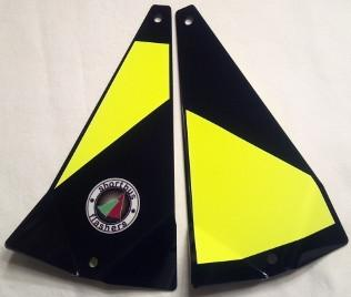 "Shortbus 5.5"" Triangle Flashers Trolling Attraction Shortbus 5.5"" Yellow Jacket"