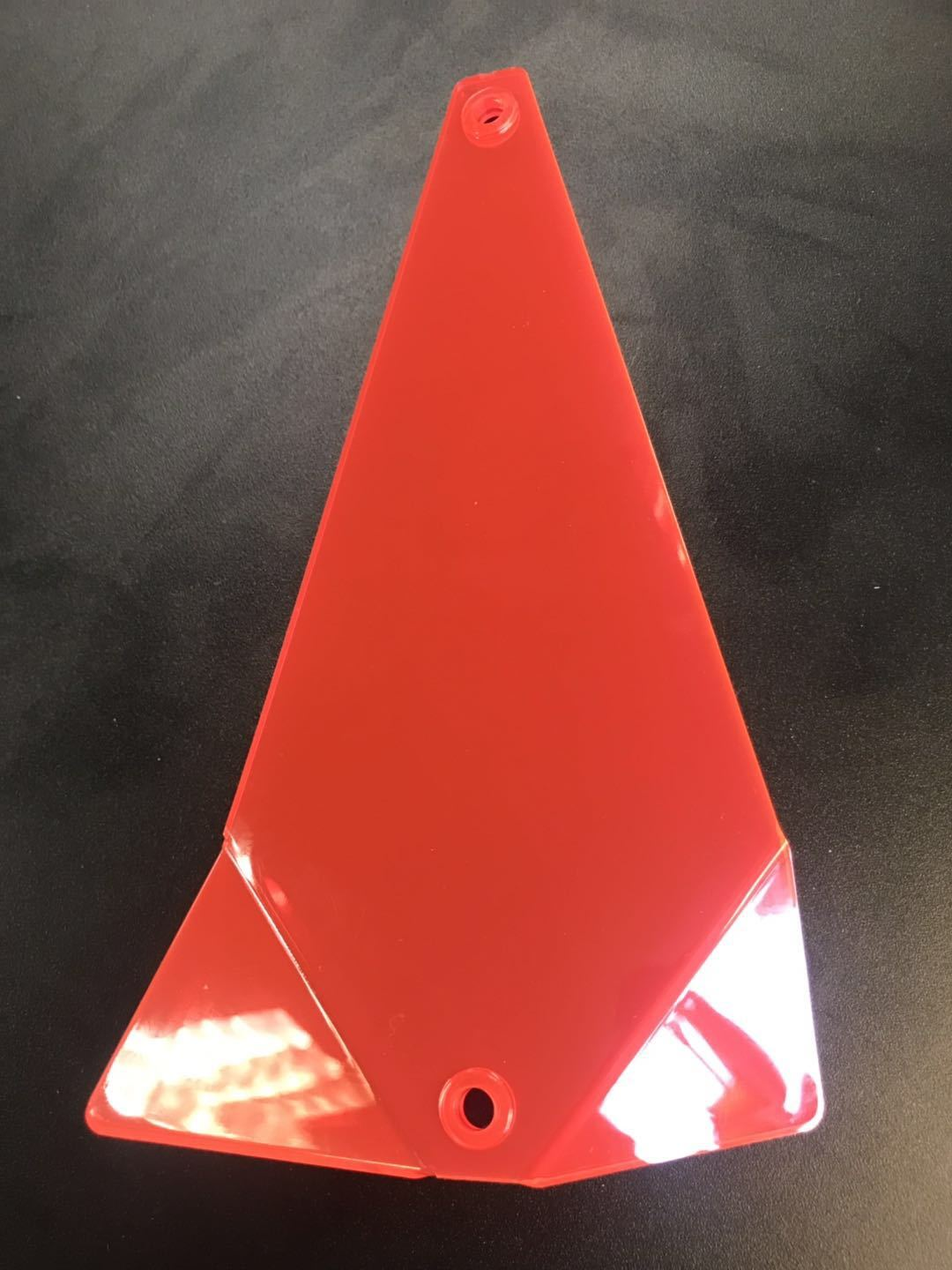 "Shortbus Flasher Blanks 8"" & 11"" Trolling Attraction Shortbus 8"" Triangle Red"
