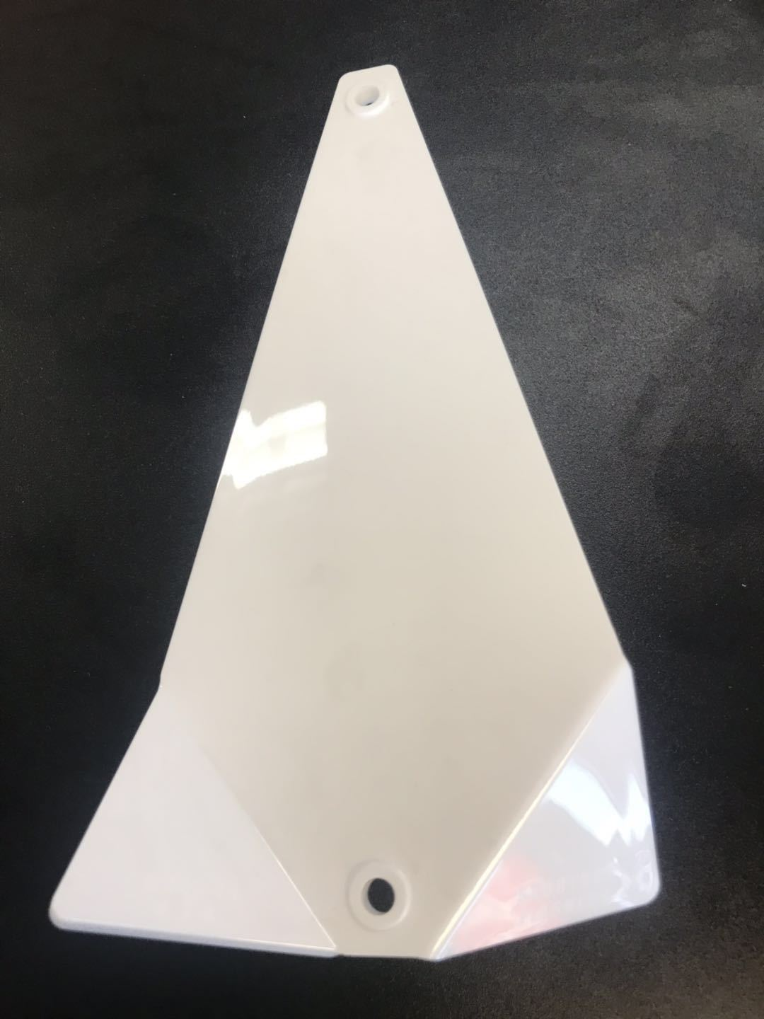 "Shortbus Flasher Blanks 8"" & 11"" Trolling Attraction Shortbus 8"" Triangle White"