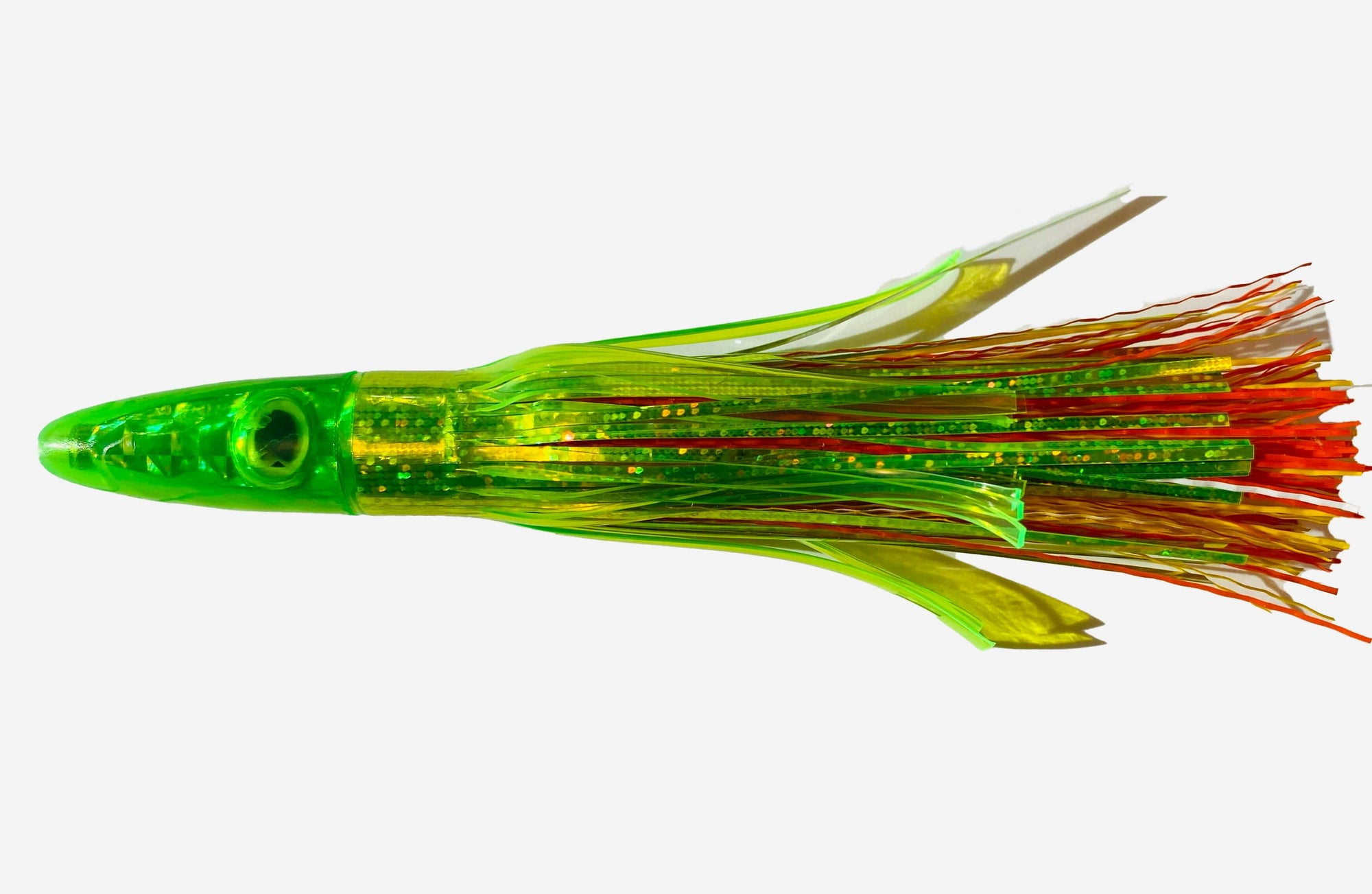 Zuker Grass Skirt Tuna Clone Hard Plastic Lures Zukers Orange/Yellow