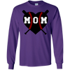Baseball Heart Mom Deep Heather Shirt Only
