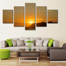 trust in the lord with all your heart wall art canvas