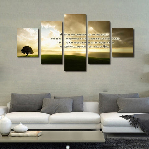 Romans 12:2 'Don't Conform to this World' Bible Verse Wall art