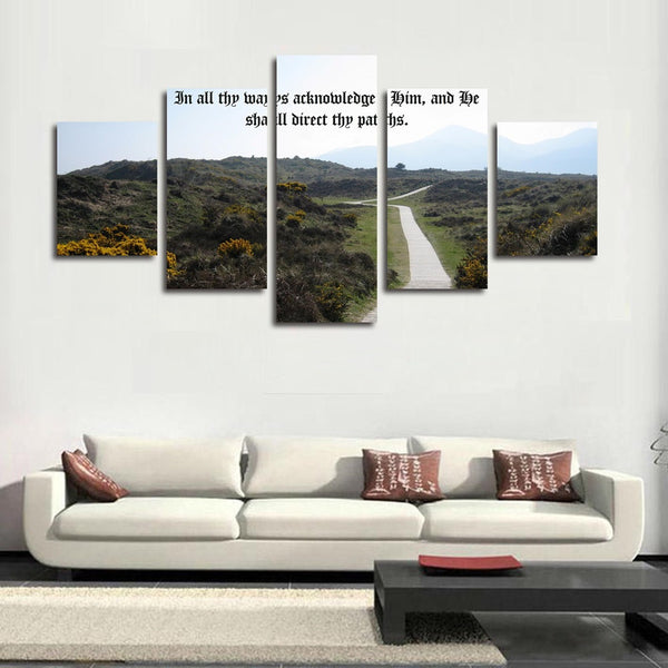 proverbs 3 6 in all ways acknowledge him wall art canvas