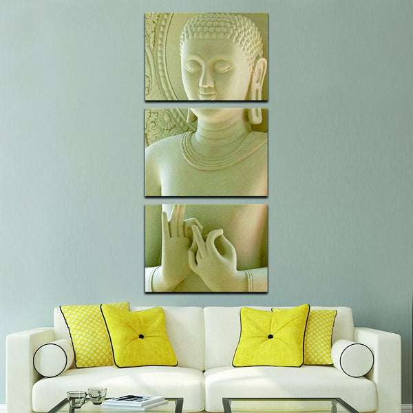 feng shui meditating buddha wall art canvas