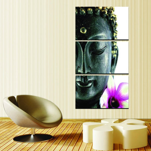 sleeping buddha wall art canvas
