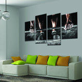 Weight Lifting Wall Art Canvas