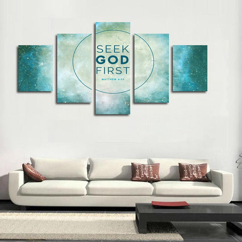 Matthew 6:33 Seek God First wall art canvas