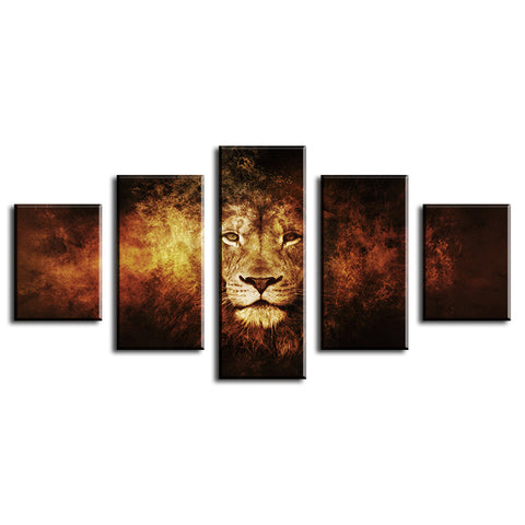 african lion print wall art canvas