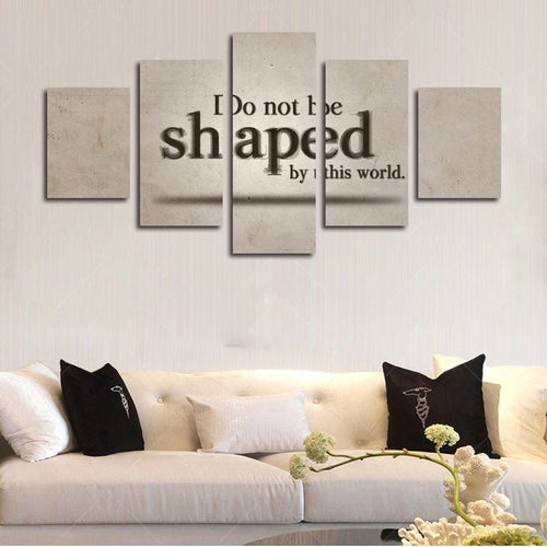Romans 12 2 don't be shaped by this world verse wall art