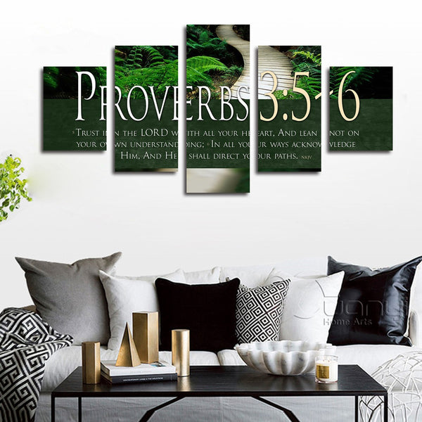 proverbs 3 5 6 bible verse wall art
