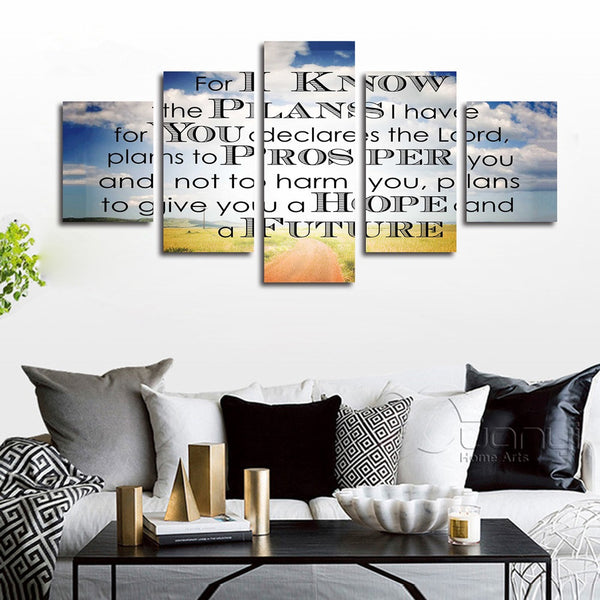 jeremiah 29 verse 11 kjv niv 2911 wall art canvas
