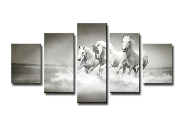 horses running on the beach wall art canvas
