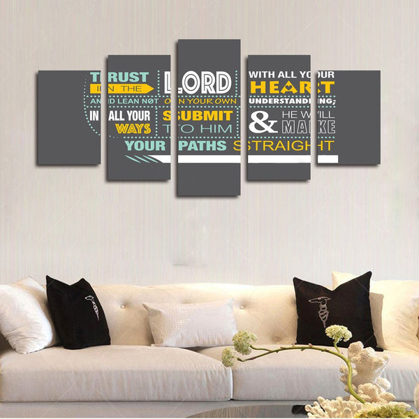 proverbs 3 5 trust in the lord christian bible verse wall art