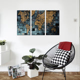 global world map wall art canvas
