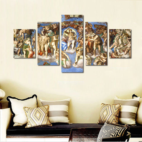 Michelangelo's The Last Judgement painting wall art Canvas
