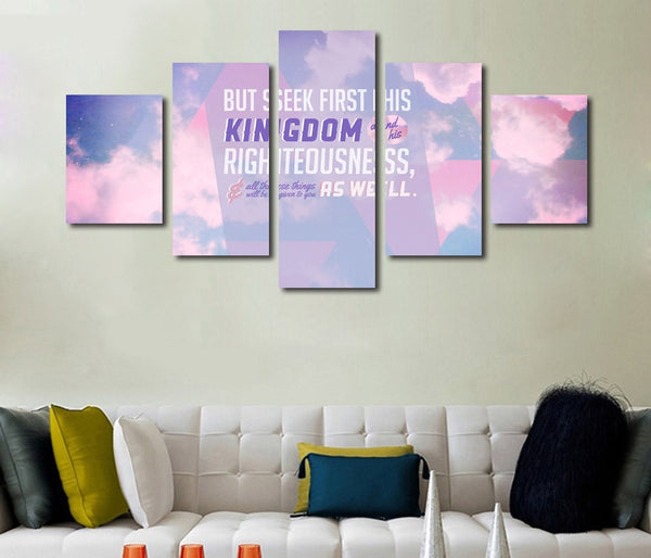 matthew 6 33 34 seek first the kingdom of god wall art canvas