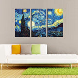 Starry Night – Vincent van Gogh Multi Panel Canvas Wall Art