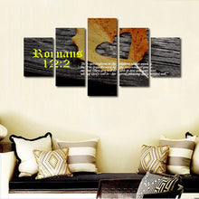 romans 12 1 2 bible verse wall art canvas