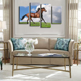 brown stallion mustang wall art canvas