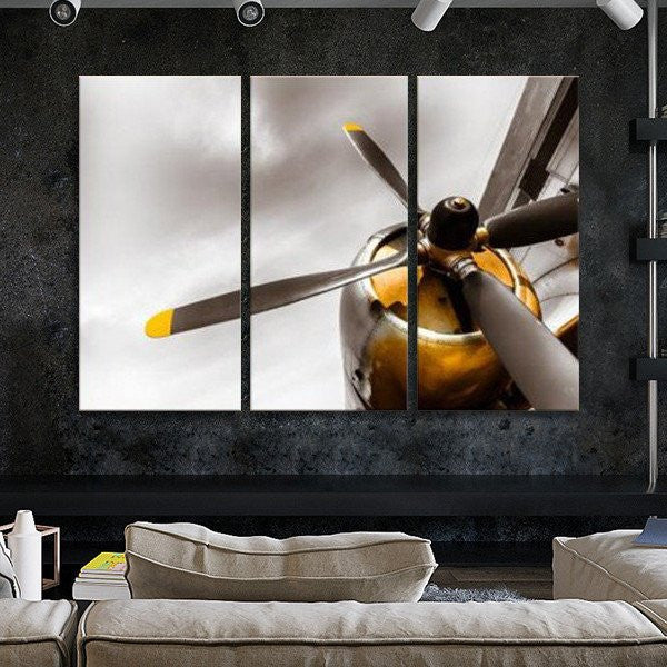 4-cyl Cylinder Engine Wall Art Airplane Canvas print poster painting decor