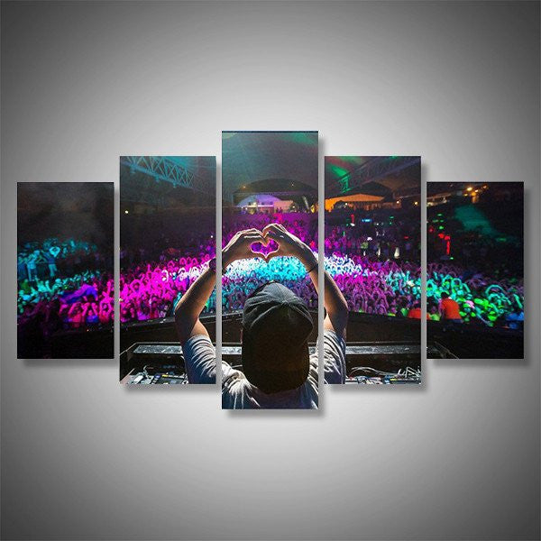 dj rave tommorowland ultra music festival wall art canvas