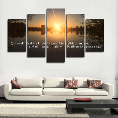 Seek ye first the kingdom of God wall art canvas