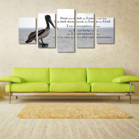 Isaiah 41 verse 10 Fear not for I am with you always Christian Bible Verse Scripture Multi Panel Canvas Wall Art Decor