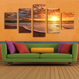 Moment before Sunset on Beach Paradise Poster Wall Art Canvas