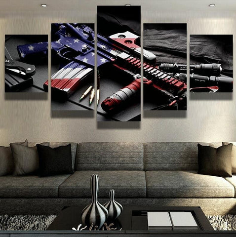 MP5 ar15 wall art canvas