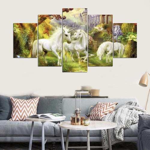 unicorn family wall art canvas