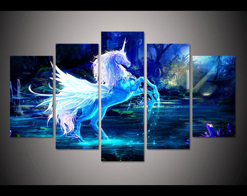 unicorn fantasy wall art canvas