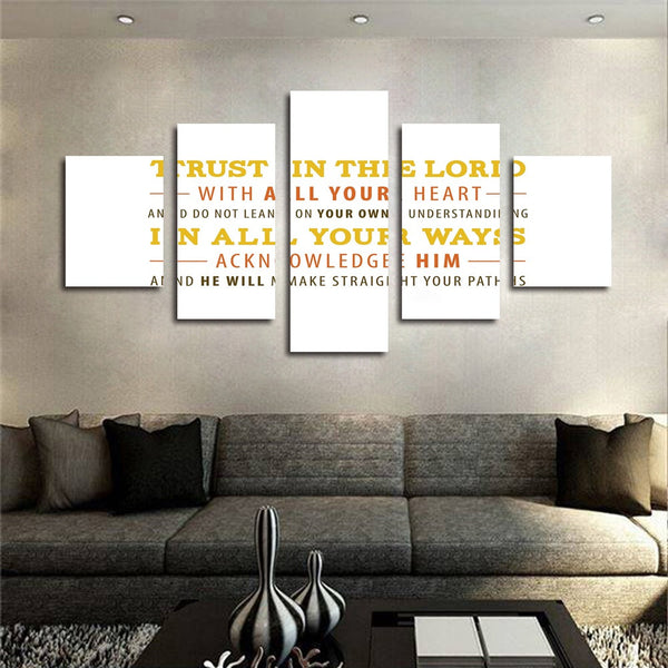 Proverbs 3 5 6 trust in the lord wall art canvas