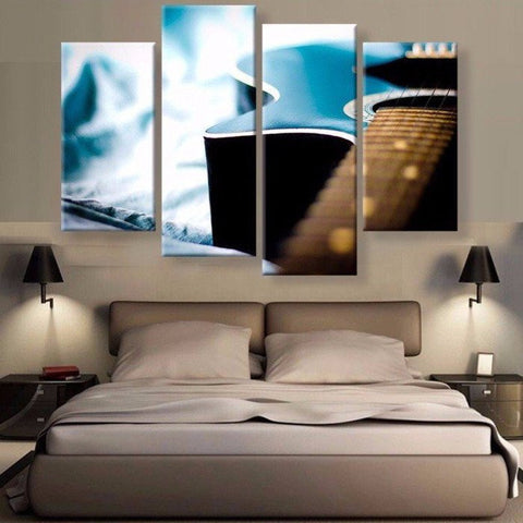 Charmant Acoustic Guitar Wall Art Multi Panel Canvas ...