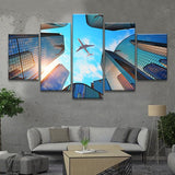 Airbus a380 Boeing 747 airplane wall art canvas print poster painting decor