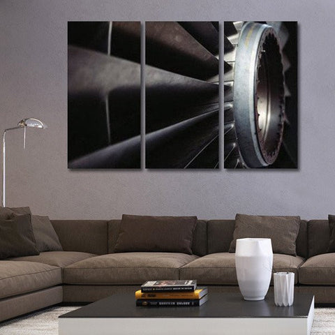 Aircraft Engine Wall Art Multi Panel Canvas print poster painting decor 1