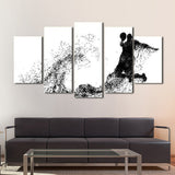 Basketball Wall Art Decal Poster Canvas 4