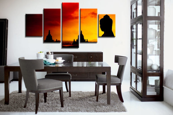 Buddha Angkor Wat Sunrise Sunset wall art canvas