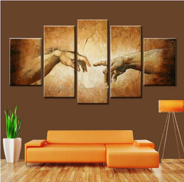 creation of adam hands hand of god wall art canvas