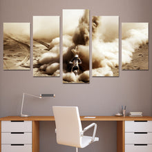 Dirt Bike in the Desert Multi Panel Canvas Wall Art