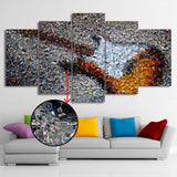 Electric Guitar Photographic Mosaic Wall Art painting poster print decor Canvas