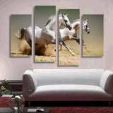 Arabian Horses running in the desert wall art canvas