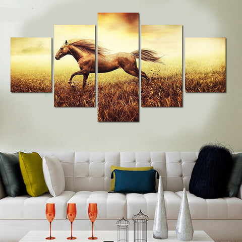 galloping horse wall art canvas