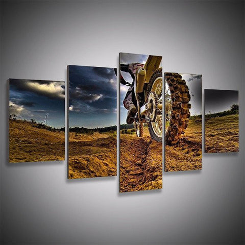 Motocross Supercross Dirt Bike wall art canvas