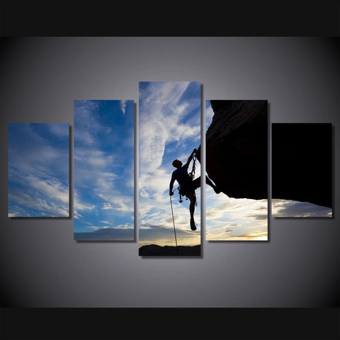 rock climbing wall art canvas