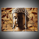meditating buddha head wall art canvas