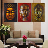 peaceful buddha head wall art canvas